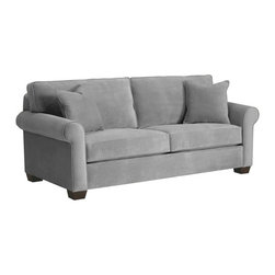Apt2B - Lafayette Sofa, Stone, 85x38x32 - This cozy, classic sofa looks like the perfect place to kick back at the end of the day. The smooth upholstery comes in several soft shades that go with everything, so whether you like to dress it up, spice it up or keep it casual and simple, this sofa is sure to fit right in.