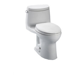 Toto - Toto MS604114CEFG#11 UltraMax II Toilet, 1.28 GPF with SanaGloss ADA - Toto MS604114CEFG#11 colonial white UltraMax II One-Piece Toilet. Toto is the world's largest plumbing products manufacturer, they have been designing and innovating plumbing fixtures, accessories, showers, and for over 90 years. Each collection and product that Toto makes is unique in appearance and performance. This Toto MS604114CEFG#11 colonial white UltraMax II One-Piece Toilet features Toto's patented glazing process (SanaGloss). This Finish is engineered to minimize any particles from sticking to the porous surface of the ceramic toilet bowl. This Toilet also includes an elongated toilet bowl, powerful Double cyclone flushing system, and a Universal height and rough-in. This Toilet comes in colonial white.