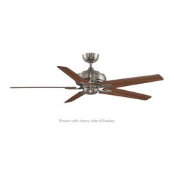 Fanimation - Fanimation Keistone 60 Without Lights (DC Motor) Ceiling Fan in Pewter - Fanimation Keistone 60 Without Lights (DC Motor) Model FPD8088PW-NL in Pewter with Blades.