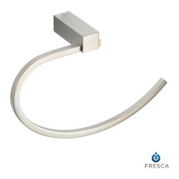 Fresca - Fresca Ottimo Bathroom Towel Ring - Brushed Nickel - All our bathroom accessories are imported and are selected for their modern, cutting edge designs. All accessories are made with brass with a quadruple brushed nickel finish. All our accessories have been chosen to complement our other line of products including our vanities, steam showers, whirlpools, and toilets.