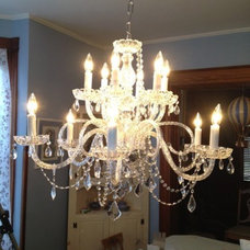 "Customer Image Gallery for Chandelier Lighting Crystal Chandeliers H27"" X W32"""