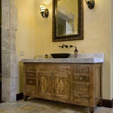 Mediterranean Bathroom Vanities And Sink Consoles by Ancient Surfaces
