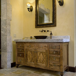Antique Master Bathrooms in antique limestone - Image by 'Ancient Surfaces'