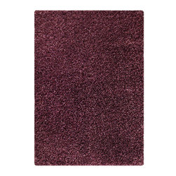 """MAT Orange Cosmo Purple Rug - 5'2""""x7'6"""" - The rugs in this collection are all inspired by urban lanandscapes, making way for a statement where texture, shape, and line are the form. The rug's texture and the marriage of colors speak to the contemporary room. """"It is the art piece on the floor.  Because of the artistic quality ofThe rugs they are easily used in modern as well as traditional interiors. Pile Height:2 Inches"""