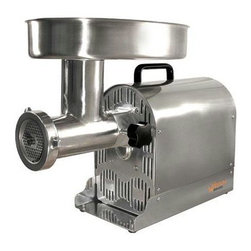 "Weston - Pro Meat Grinder/Stuff #22 - Weston #22 Professional Stainless Steel Electric Meat Grinder/Sausage Stuffer.. Powerful Stainless Steel Grinder! 750 Watt 1 Horsepower permanently lubricated motor that easily grinds 9-12 lbs. of meat per minute! Extra Large Stainless Steel Hopper 15"" x 10"" by 2.5"" with all metal gear construction for optimal grinding performance & a lifetime of use. Equipped with a Circuit Breaker for safe use. ON/Off/Reverse Functions. Sturdy handle for easing moving and non-slip rubber feet for stability. Disassembles for easy clean up. Comes with Stainless Steel cutting knife, 4.5mm & 7mm Stainless Steel grinding plates, 4 various sized funnels with stuffing star for sausage and snack sticks and a heavy duty stomper. Grind meat & stuff sausage with ease!!!!"