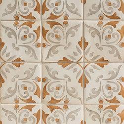 Duquesa Catarina Decorative Field Tile in Ambra - Ceramic and Terracotta