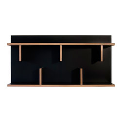 Temahome - Temahome Bern Wall Shelf, Black, 35In - A decorative wall-mounted shelf perfect for small yet stylish spaces.TemaHome produces a collection of contemporary furniture and decorative accents, that combine modern lines and award winning designs by some of the most respected Portuguese designers, such as Fernando Brizio and Filipe Alarcao. This attention to the design of each product, results in timeless pieces that can fit into an endless variety of contexts.