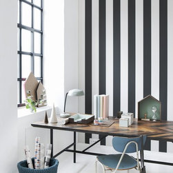 Vertigo Wallpaper - Certainly not for the fainthearted, this bold, zebra-striped wallpaper will steal the show in whichever room it's used.