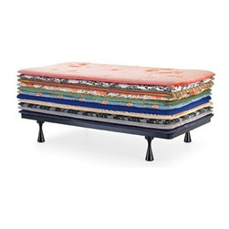 "ecofirstart - Gallery Principessa - Live out your ""Princess and the Pea"" fantasy with this whimsical, colorful daybed. Recline with the utmost comfort given the up to 11 decorative mattresses. Organic fabric and materials and a choice of upholstery make this a 'happily ever after' purchase."