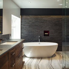 Modern  Renovated master suite including bathroom.
