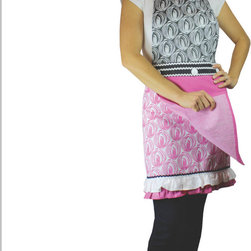 MU Kitchen MUcity Apron & Towel Set Onion - Show off your style with the new MU Kitchen MUcity Onion print apron & kitchen towel set.  This 100% imported Indian cotton apron set features a built in towel for quick use.  The MU Kitchen MUcity collection brings comfort  style  and functionality together in one beautiful package.Product Features                      100% cotton imported from India          Trend-right designer style          V-line slim fit             Built-in towel for quick use