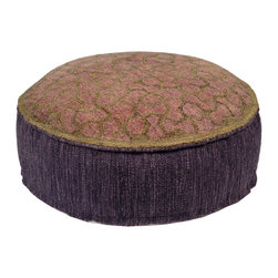 Habitat Home & Garden - Bharani Pouf - The Bharani Pouf is a beautiful piece to add extra seating to your home, or to use as a foot rest. Upholstered in a quality wool and cotton fabric, this colorful piece will add flair to your decor.