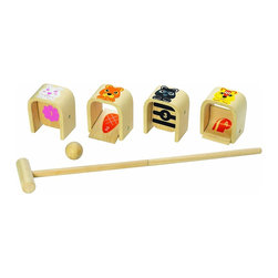 Wonderworld Wonder Croquet - This kids' croquet set features adorable graphics and sturdy wood construction.