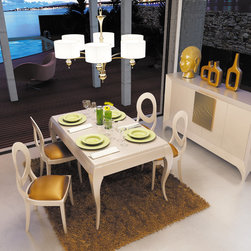 Franco Furniture - Macral Design Composition Nº 2. Dining room. - Dining Set.Composition Nº 2. The set includes: dining table + 4 chairs + sideboard / buffet + cabinet: $8,596.