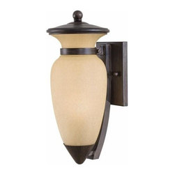 Minka-Lavery - Minka-Lavery 1-Light Wall Mount in Iron Oxide Finish - This 1-Light Outdoor Foyer Hall Fixture has a Bronze Finish.