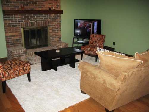 how to arrange furniture around fireplace and corner tv