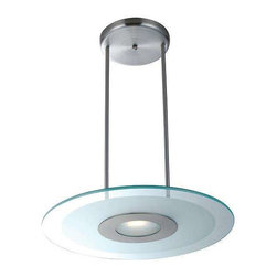 Access Lighting - Access Lighting 50484-BS/CFR Helius Modern Pendant Light - Brushed Steel - Access Lighting 50484-BS/CFR Helius Modern Pendant Light In Brushed Steel