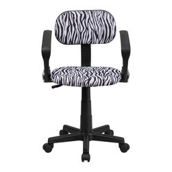Flash Furniture - Flash Furniture Accent Chair X-GG-A-KB-Z-TB - This attractive design printed office chair will liven up your classroom, dorm room, home office or child's bedroom. If you're ready to step out of the ordinary then this computer chair is for you! [BT-Z-BK-A-GG]