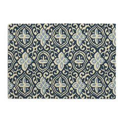 Blue Moroccan Mosaic Custom Placemat Set - Is your table looking sad and lonely? Give it a boost with at set of Simple Placemats. Customizable in hundreds of fabrics, you're sure to find the perfect set for daily dining or that fancy shindig. We love it in this royal & sky blue block print reminiscent of traditional morrocan mosaics.