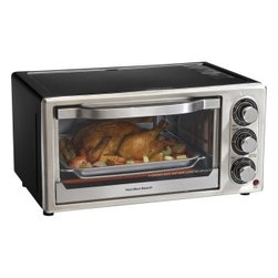 "Hamilton Beach - Hamilton Beach 31512 Toaster Oven - General Information Manufacturer/Supplier: Hamilton Beach Brands, Inc Manufacturer Part Number: 31512 Brand Name: Hamilton Beach Product Model: 31512 Product Name: 31512 Toaster Oven Marketing Information: Hamilton Beach Convection Ovens offer the convenience of an oven and the speed of convection cooking in one convenient appliance. You'll save lots of cooking time -- the convection mode cooks food up to 25% faster by circulating heated air evenly around food as it cooks. Hamilton Beach Convection Ovens are versatile and have all the traditional settings you look for in a countertop oven, including toast, bake, and broil settings. And at the end of cooking, the cooking timer alerts you and turns the oven off automatically. When it's time for cleanup, the interior wipes down fast and the crumb tray is removable. Product Type: Toaster Oven Technical Information Functions: Toast Reheat Bake Broil Number of Slices: 6 Timer: Yes Maximum Timer Duration: 30 Minute Number of Racks: 1 Number of Trays: 1 Features: Auto-shutoff Controls/Indicators Status Indicators: Ready bell Physical Characteristics Height: 9.0"" Width: 13.0"" Depth: 16.8"" ship Information ship Dimensions : 11.5"" Height x 14.5"" Width x 19.5"" Depth Case Pack Qty : 1 ship Weight : 13.56 lb Pallet Qty : 24 Miscellaneous Package Contents: 31512 Toaster Oven Bake Pan"