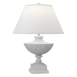 Robert Abbey - Freya Table Lamp - Add a little whimsy to your home with this perky table lamp. Its upturned base and sturdy pedestal are complemented by its jaunty shade. Available in a plethora of base and shade colors and finishes.