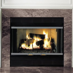 Majestic Royalton Series 40'' x 40'' Wood Burning Fireplace - The Royalton wood-burning fireplace deliversradiant heat without the need for smokebaffles that block your view of the fire. Its traditional style comes in two sizes with either a radiant or circulating face.