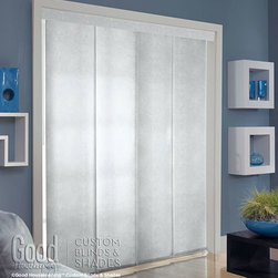 Good Housekeeping - Good Housekeeping Panel Tracks: Solarscreen 5% - Panel Track Blinds are popular for large windows because they use fewer panels than vertical blinds; this provides an uncluttered look that's great for emphasizing the view.  And, unlike drapery, Good Housekeeping Panel Tracks are less formal - just right for today's more casual themes.