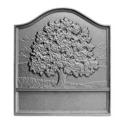 "Pennsylvania Firebacks - 18"" x 20"" Plain Great Oak Fireback - The Oak Tree, a tribute to strength - plain bottom panelFireback by J. Del Conner"