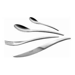 Carl Mertens - Carl Mertens Vitalis Satin 5 Piece Place Setting - Features: -Carl Mertens Collection. -Made of high-quality 18/10 chromium-nickel stainless steel. -5 Piece flatware set includes : -1 Small fork. -1 Large fork. -1 Small spoon. -1 Large spoon. -1 Butter knife. .