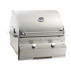 """Fire Magic - Fire Magic Choice C430i-1T1N Built-In 24"""" Gas Grill - Heavy-gauge tubular stainless steel burners."""
