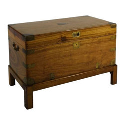 Used Gorgeous Chinese Chest on Stand - An absolutely gorgeous Chinese chest on stand. The handsome brass details add an extra special decorative touch to this wildly utilitarian piece.