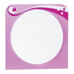 "Cilek - Princess Mirror - Princess mirror straightforward to be used with princess drawer. which can be purchased separately. Princess mirror is great addition to ""Pretty in Pink"" collection."