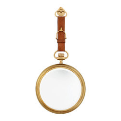 Eichholtz Oroa - Mirror Aramis Equestrian, Aged Brass - Tan leather and aged brass finish