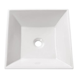 Avanity - 16.5 in. Square Above Counter Sink - Above counter 16.5 in. Square Vitreous China Sink in White