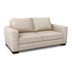Viesso - Rio Loveseat (Custom) - Classically modern. This modern loveseat uses classic lines but maintains a modern aesthetic. The depth is comfortable, but not too loungy, and the proportions fit well with a very wide range of furniture styles.