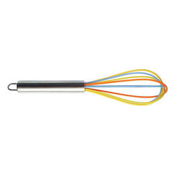 Cuisinox - 30 cm Silicone Whisk with Stainless Steel Handle - Now you can whisk away on any cooking surface including non-stick without any scratching the finish. The stainless steel wires are covered with colorful silicone.