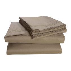 Honeymoon - Honeymoon super soft 4PC Bed Sheet Set, Easy Care, Light Green, Queen - Microfiber polyester