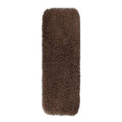"""Garland Rug - Bath Mat: Accent Rug: Serendipity Chocolate 22"""" x 60"""" Bathroom - Shop for Flooring at The Home Depot. This heavyweight shag bath rug will fit easily into any bathroom decor. Serendipity is made with 100% Nylon for superior softness and colorfastness. And is proudly made in the USA.."""