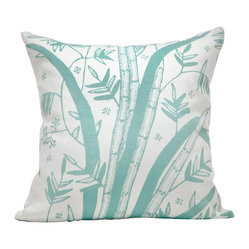 Indochine Friendship Reed Pillow, White/Robins Egg