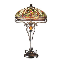 Dale Tiffany - Dale Tiffany TT101114 Boheme Boehme Traditional Tiffany Table Lamp - In our Traditional Tiffany Collection, we use the same high quality copperfoil and leading technique that Louis Comport Tiffany perfected in his original creations. His love of flowers and nature reflects in many of our shades and bases. In many cases, colors and design were updated to coordinate with home decor that is popular today. Louis Comfort Tiffany was constantly innovating his many techniques and styles, and Dale Tiffany has continued that heritage.