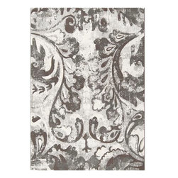 "Surya - Surya Contempo CPO-3707 (Grey, Cream) 3'11"" x 5'7"" Rug - Cool and serene, Contempo rugs create a relaxed atmosphere with their organic shapes and neutral color palette. The ultra-modern print of the chic collection are subdued, sophisticated, and will never threaten to overwhelm your decor. Made in Belgium from polypropylene fiber, these stylish rugs are durable and easy to clean. Bring a fresh trend and a cool touch into your home with a Surya Contempo rug."