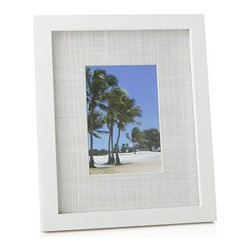 Shore 5x7 Frame - Wide, textured mats and solid wood frames square up favorite photos in room-freshening white.