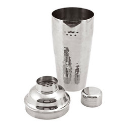 Essential Hammered Cocktail Shaker - Get shaking with this bar essential! This 24-ounce shaker has a high-shine hammered finish that will suit any home bar.
