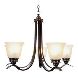 AF LIGHTING - Sanibel Lighting Collection, 3 Light Chandelier, Oil Rubbed Bronze - Sanibel light fixtures offer exceptional looks, extraordinary convenience, and state-of-the art performance. Sanibel fixtures serve as the inspiration for updating any room in your home. The majestic curves of this five-light chandelier lend elegance to any decor. It features an oil rubbed bronze finish and frosted glass globes. Besides its decorative appeal, this fixture is also energy-efficient. It uses compact fluorescent lamps (included).