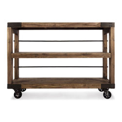 Wheel and Deal Shelving Unit - This mobile shelving unit is a steal: load it up and wheel it around anywhere you like. It's especially handy at dinner parties.