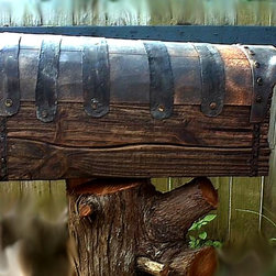 Household items - Country Style Rustic Mailbox With Metal Forging. Was made for special order. Pine, metal. Wood, metal parts, all other – are real, new matherials. All natural. Metal forging – is handmade, real. Rustic is special grown up. Real replica of the old times mailboxes! Natural woodfinish, beeswax. Inside – is the soldered plastic box. ACCEPT ORDERS FOR ANY KIND OF MAILBOXES. PRICES DEPENDS FROM HARDNESS, TYPE, MATHERIALS, ETC. STARTS FROM $350. Those one was made small size for $350.