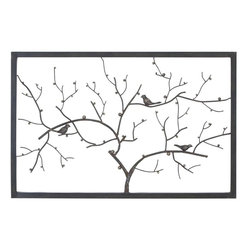 Benzara - Metal Wall Decor in Deep Shaded Finish with Modern Design - Endow your home with a more distinctive appearance with this metal wall decor which features a beautiful modern design. It has a contemporary style that makes it an excellent choice for blending in with chic urban settings. This wall decor is shaped to depict a bare tree with elegantly detailed birds on the branches. It features a deep shaded finish that gives the overall design a sophisticated charm. This home accessory can be incorporated in living room and dining room settings and is also apt for offices as it has a sturdy and durable make. Made from metal of superior quality, this wall decor includes intricate detailing which adds a more appealing look to the overall appearance. This is an excellent gift for your dear and near ones.