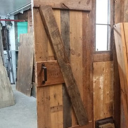 "Reclaimed Barn Door Design Ideas from Projects in NYC, New Jersey & Connecticut - Custom Reclaimed Barn Door ""Z"" Pattern"