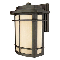 Quoizel - Quoizel GLN8410IB Galen Traditional Outdoor Light - A design made for classic Arts and Crafts style homes, but looks great on contemporary or modern homes as well. The imperial bronze finish will coordinate well and the umber linen glass is the perfect light source for your outdoor decor. This collection, with its classic elements, will bring understated flair to any home.