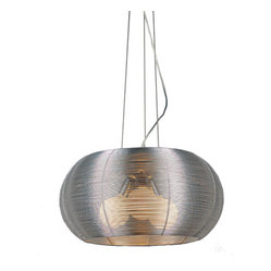 Bromi Design - Bromi Design Lenox 3-Light Modern Pendant - Stainless steel just got a new lease on light in this dazzling pendant. If yours is a contemporary or modern decor this light is a quiet, elegant touch of restraint. In a more traditional space, this light will steal the show. Either way, it's a win win for you.